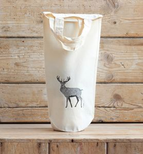 Red Stag Cotton Bottle Bag #Two - gift bags & boxes