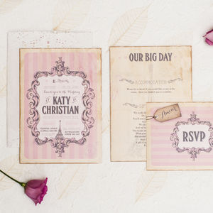 From Paris With Love Wedding Invitation - reply & rsvp cards