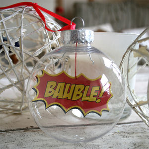 Comic Book Bauble, Bauble Boomble - home accessories
