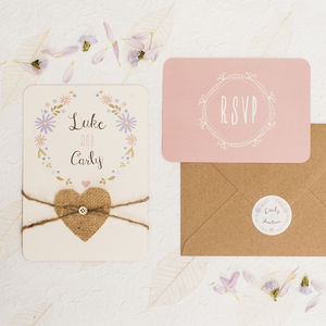 Boho Floral Wedding Invitation - reply & rsvp cards