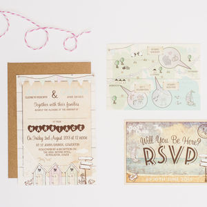 Beside The Seaside Wedding Invitation - reply & rsvp cards