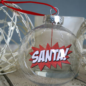 Comic Book Bauble, Santa Boomble