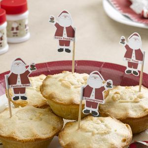 Christmas Santa Cake Toppers - festive cake toppers
