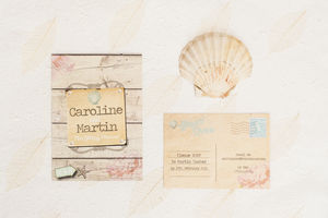 Beach Wedding Invitation - reply & rsvp cards