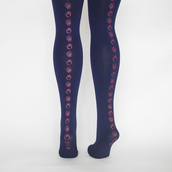 Hand Printed Rose Tights