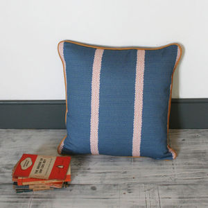 Wildlife Inspired Foxes Ears Blue Cushion