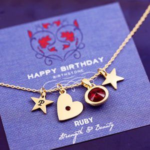 Design Your Own Birthstone Heart Necklace - women's jewellery