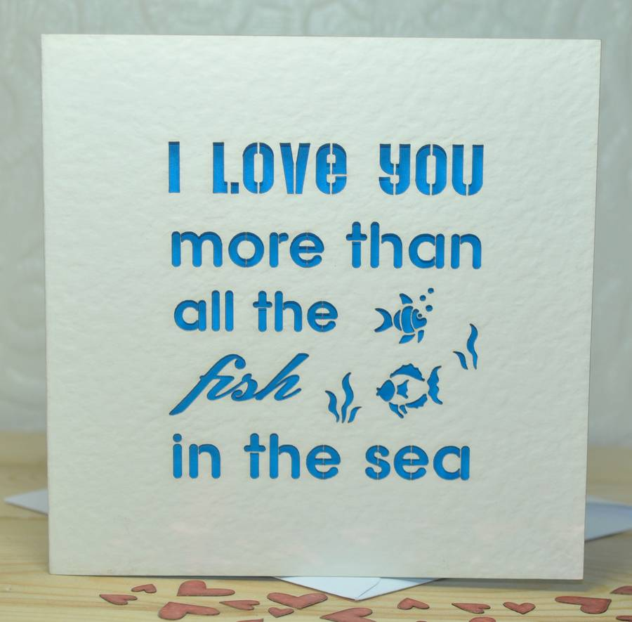 'I Love You More Than…' Laser Cut Card