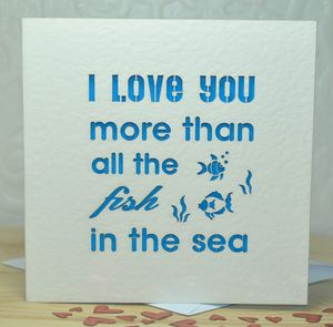 'I Love You More Than…' Laser Cut Card - anniversary cards
