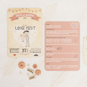 Love Fest Wedding Invitation - reply & rsvp cards