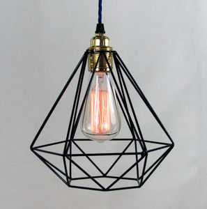 Diamond Cage Pendant Light - pendant lights
