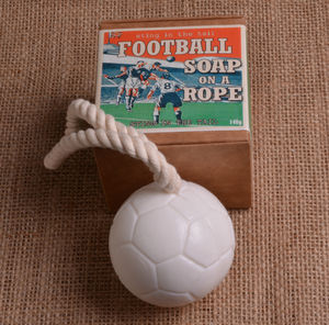 Football Soap On A Rope - bath & body
