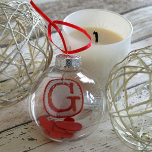 Personalised Initial In A Bauble - wedding favours