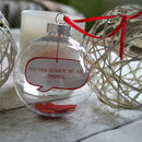 Personalised Message In A Bauble