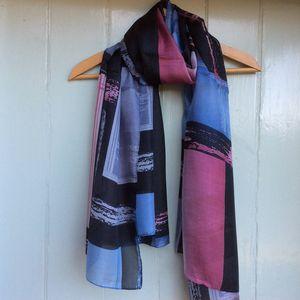 Large 'Geometric' Pure Silk Scarf