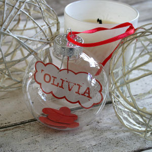 Personalised Name In A Bauble - unusual favours