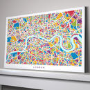 London Map Art Print Colours
