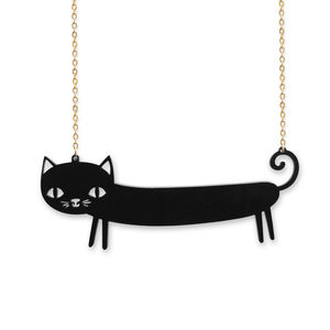 Sausage Cat Necklace