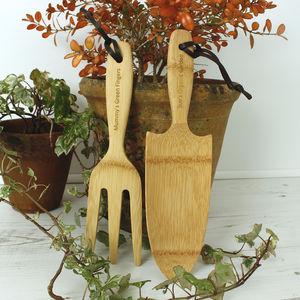 Personalised Organic Bamboo Garden Tool Set