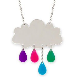 Mirrored Raincloud Necklace - necklaces & pendants