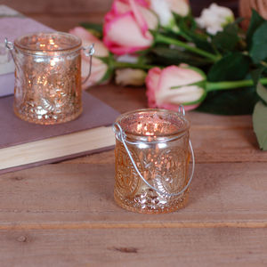 Gold Antique Glass Candle Holder Votive - room decorations
