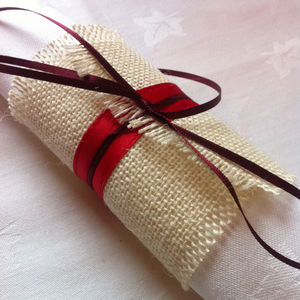 Christmas Burlap Napkin Ring Table Decoration