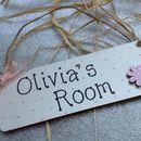 Personalised Handmade Girls Room / Door Sign