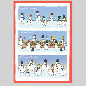 Snow Balls Christmas Card - cards & wrap