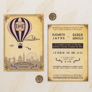 'Greatest Adventure' Wedding Invitation - travel inspired