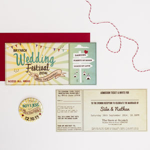 Wedding Festival Wedding Invitation - wedding stationery