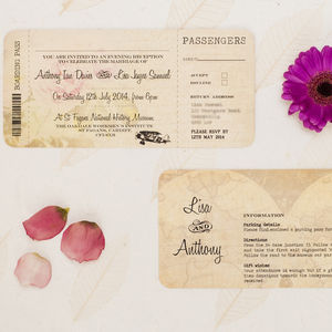 Ticket To Ride Wedding Invitation