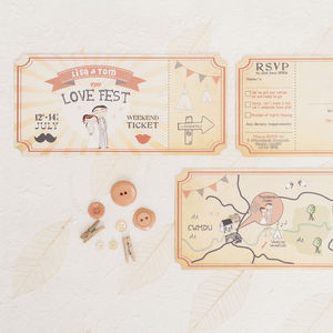 'Love Fest' Wedding Invitation Ticket