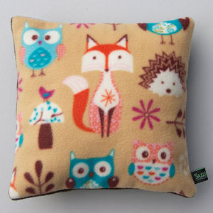 Fox And Owl Child's Pyjama Cushion Case - bedroom