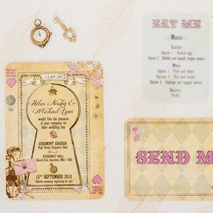 Wonderland Wedding Invitation - reply & rsvp cards