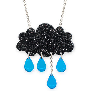 Glitter Raincloud Necklace - necklaces & pendants
