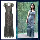 Maxi Dress In Reef And Teal Lace