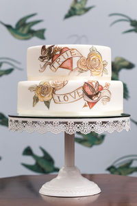 Vintage Tattoo Wedding Cake - cakes & treats