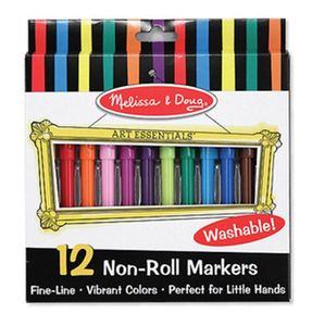 Washable Rainbow Felt Tip Pens Packet Of 12 - stationery & creative activities
