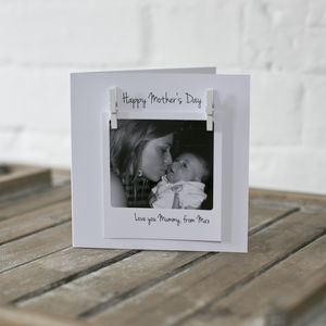 Personalised Mothers Day Photo Message Card - seasonal cards