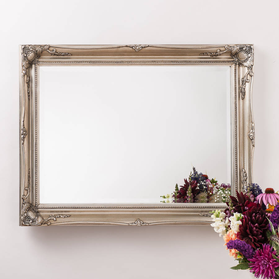 vintage ornate mirror antique silver by hand crafted mirrors | notonthehighstreet.com