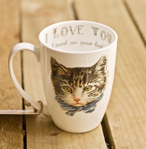 Cat Crimes Personalised Bone China Mug