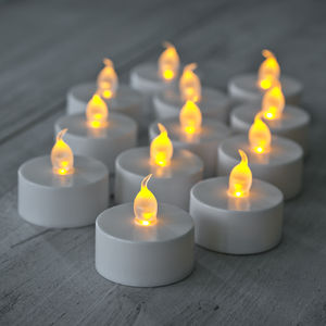 Set Of Twelve Battery LED Tea Lights