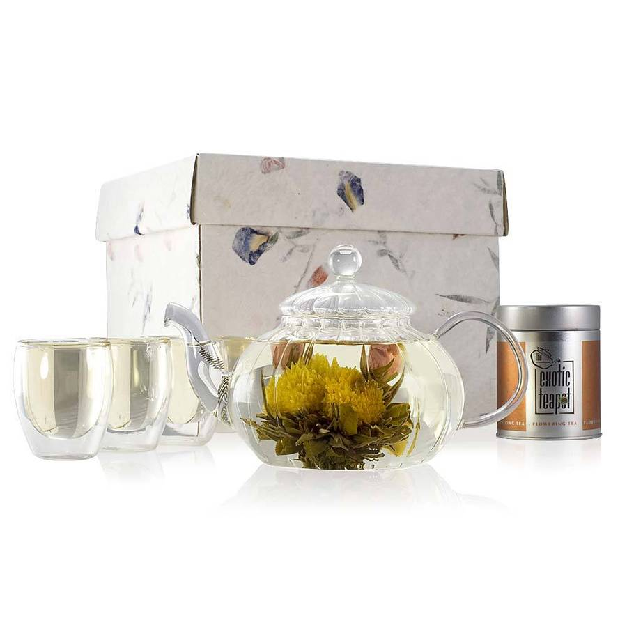 Mandalay Flowering Tea Gift Set By The Exotic Teapot
