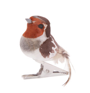 Woodland Mini Bird Clip Ornament Decoration - table decorations