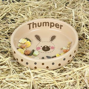 Rabbit Personalised Bowl - food, feeding & treats