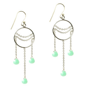Amelia Earrings Chrysoprase And Silver