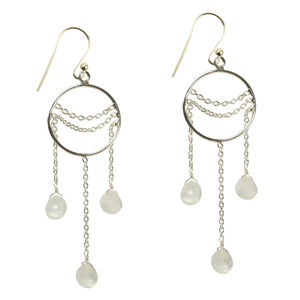 Amelia Earrings Moonstone And Silver