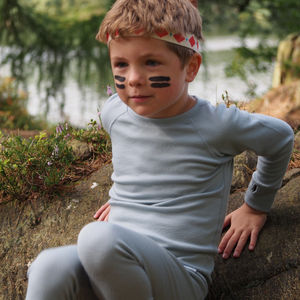 Superfine Merino Kids Base Layer Top - clothing