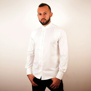 White Contemporary Shirt - groomed to perfection