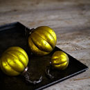 Mustard Frosted Glass Baubles